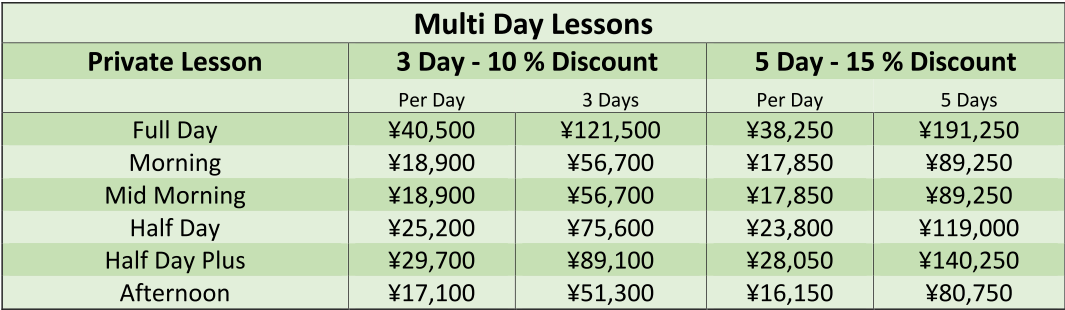 Multi Day Lessons frm XL then txt edited in word